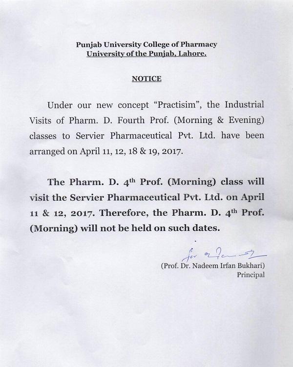 PUCP - Punjab University College of Pharmacy